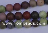 CNI361 15.5 inches 6mm round matte imperial jasper beads wholesale