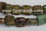 CNI37 15.5 inches 6*6mm square natural imperial jasper beads