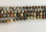 CNI370 15.5 inches 6mm round American picture jasper beads
