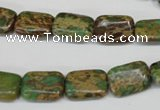 CNI40 15.5 inches 10*14mm rectangle natural imperial jasper beads