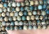 CNI402 15.5 inches 8mm round blue impression jasper beads