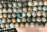 CNI403 15.5 inches 10mm round blue impression jasper beads