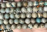 CNI404 15.5 inches 12mm round blue impression jasper beads