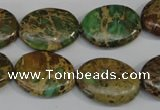 CNI42 15.5 inches 15*20mm oval natural imperial jasper beads