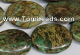 CNI43 15.5 inches 22*30mm oval natural imperial jasper beads