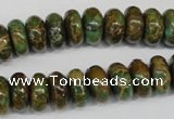 CNI46 15.5 inches 6*12mm rondelle natural imperial jasper beads