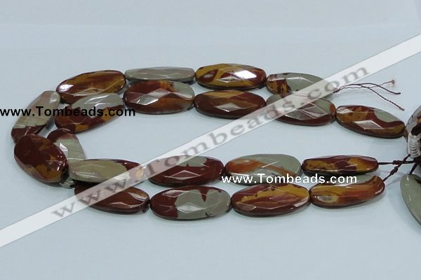 CNJ04 15.5 inches 20*40mm faceted oval natural noreena jasper beads