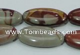 CNJ06 15.5 inches 15*30mm oval natural noreena jasper beads