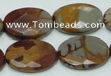 CNJ11 15.5 inches 18*25mm faceted oval natural noreena jasper beads