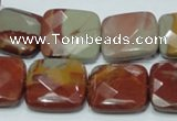 CNJ16 15.5 inches 20*20mm faceted square natural noreena jasper beads