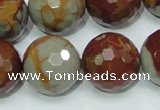 CNJ21 15.5 inches 20mm faceted round natural noreena jasper beads
