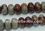 CNJ22 15.5 inches 8*12mm faceted rondelle natural noreena jasper beads