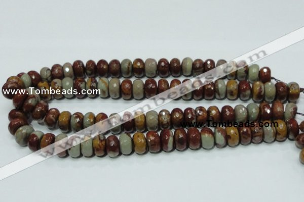 CNJ23 15.5 inches 8*14mm faceted rondelle natural noreena jasper beads