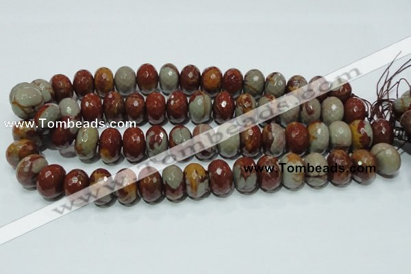 CNJ25 15.5 inches 12*18mm faceted rondelle natural noreena jasper beads