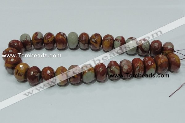 CNJ26 15.5 inches 14*20mm faceted rondelle natural noreena jasper beads