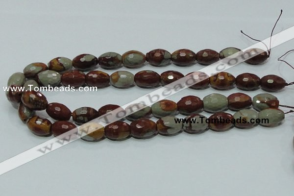 CNJ29 15.5 inches 13*18mm faceted rice natural noreena jasper beads