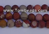 CNJ300 15.5 inches 4mm round matte noreena jasper beads wholesale