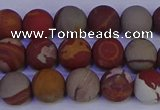CNJ302 15.5 inches 8mm round matte noreena jasper beads wholesale