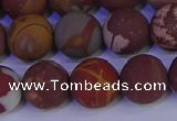 CNJ304 15.5 inches 12mm round matte noreena jasper beads wholesale