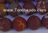 CNJ305 15.5 inches 14mm round matte noreena jasper beads wholesale