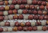 CNJ35 15.5 inches 4mm faceted round noreena jasper beads