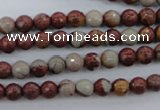 CNJ36 15.5 inches 6mm faceted round noreena jasper beads