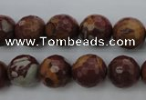 CNJ38 15.5 inches 12mm faceted round noreena jasper beads wholesale