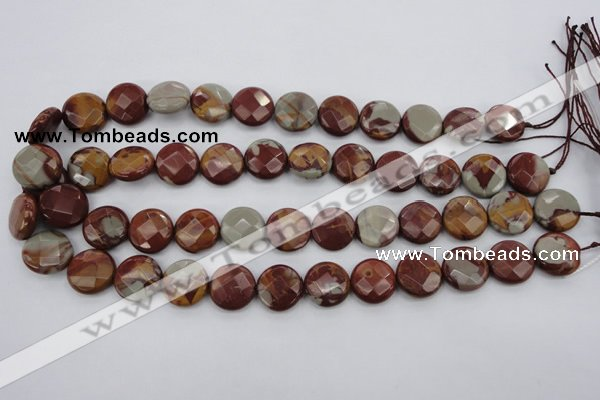 CNJ44 15.5 inches 16mm faceted coin noreena jasper beads