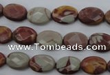 CNJ50 15.5 inches 10*14mm faceted oval noreena jasper beads