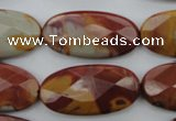 CNJ51 15.5 inches 15*30mm faceted oval noreena jasper beads