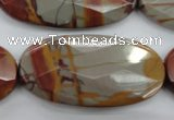 CNJ53 15.5 inches 25*50mm faceted oval noreena jasper beads
