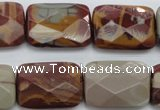 CNJ55 15.5 inches 18*25mm faceted rectangle noreena jasper beads