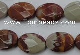 CNJ85 15.5 inches 15*20mm faceted oval noreena jasper beads wholesale