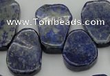 CNL1153 Top drilled 15*20mm - 18*25mm freeform lapis lazuli beads