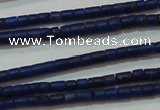 CNL1202 15.5 inches 0.8*1mm tube natural lapis lazuli beads