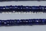 CNL1265 15.5 inches 3*6mm tyre natural lapis lazuli beads