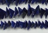 CNL1273 15.5 inches 4*6mm - 5*8mm pyramid natural lapis lazuli beads