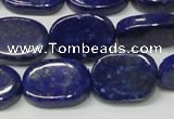 CNL1278 15.5 inches 13*18mm oval natural lapis lazuli beads