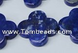 CNL1284 15.5 inches 25mm flower natural lapis lazuli beads