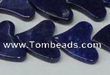 CNL1290 15.5 inches 21*22mm heart natural lapis lazuli beads