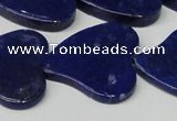 CNL1291 15.5 inches 31*33mm heart natural lapis lazuli beads