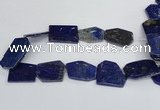CNL1515 15.5 inches 30*35mm - 35*45mm freeform lapis lazuli beads