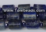 CNL1602 15.5 inches 10*15mm tube lapis lazuli gemstone beads