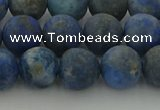 CNL1653 15.5 inches 10mm round matte lapis lazuli beads wholesale