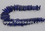 CNL1662 15.5 inches 5*25mm - 7*40mm sticks lapis lazuli beads