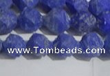 CNL1666 15.5 inches 8mm faceted nuggets matte lapis lazuli beads