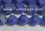 CNL1667 15.5 inches 10mm faceted nuggets matte lapis lazuli beads