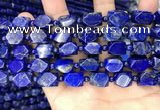 CNL1687 4mm round & 8*10mm - 9*13mm faceted nuggets lapis lazuli beads