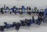 CNL244 15.5 inches 3*10mm chip natural lapis lazuli beads wholesale