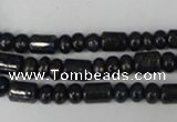 CNL434 15.5 inches 4*6mm rondelle & 6*9mm tube natural lapis lazuli beads